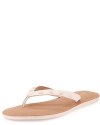 Sandalias de dedo de cuero con tachuelas marrón claro de Rebecca Minkoff