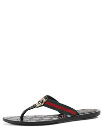 Comprar unas sandalias de dedo de cuero negras de Neiman Marcus ... a576b89e539