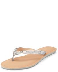 Sandalias de dedo plateadas de Rebecca Minkoff