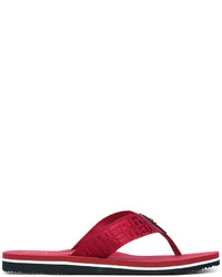 Sandalias de dedo rojas de Tommy Hilfiger