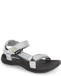 Sandalias de goma plateadas