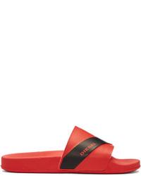 Sandalias de goma rojas de Diesel