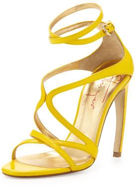 8edf6b0de ... Sandalias de tacón amarillas de Walter Steiger ...