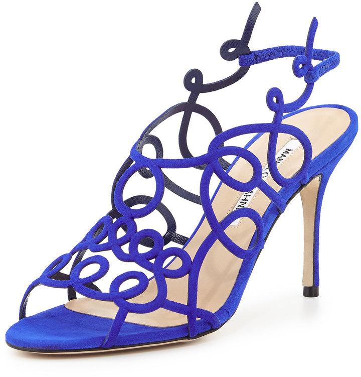 6c50d6ec Sandalias de Tacón de Ante Azules de Manolo Blahnik: dónde comprar y ...