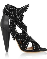 Sandalias de tacón de ante con tachuelas negras de Isabel Marant