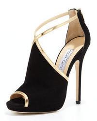 Negras Sandalias De Tacón de mujer color dorado ¡Compara