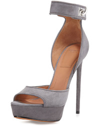 Sandalias de tacón de ante grises de Givenchy
