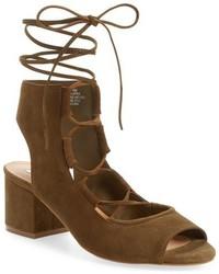 Sandalias de tacón de ante marrónes de Steve Madden