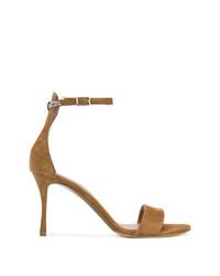 Sandalias de tacón de ante marrónes de Tabitha Simmons
