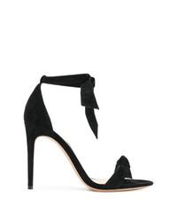 Sandalias de tacón de ante negras de Alexandre Birman