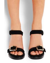 Sandalias de tacón de ante negras de Givenchy