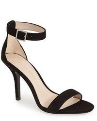 Sandalias de tacón de ante negras de Pelle Moda