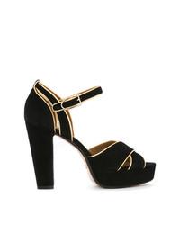 Sandalias de Tacón de Ante Negras de Sonia Rykiel