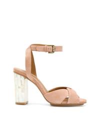 Sandalias de tacón de ante rosadas de See by Chloe