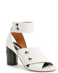 Sandalias de tacón de cuero blancas de Acne Studios