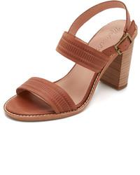 Sandalias de tacón de cuero marrónes de Madewell