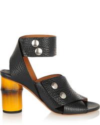 Sandalias de tacón de cuero negras de Acne Studios