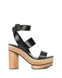 Sandalias de tacón de cuero negras de Pierre Hardy