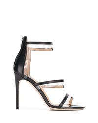 Sandalias de tacón de cuero negras de Sergio Rossi