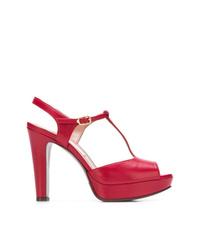 Sandalias de tacón de cuero rojas de L'Autre Chose
