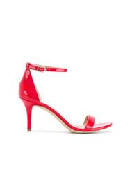 Sandalias de tacón de cuero rojas de Sam Edelman