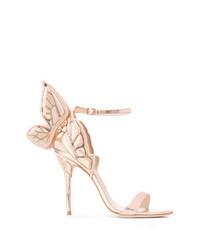 Sandalias de tacón de cuero rosadas de Sophia Webster