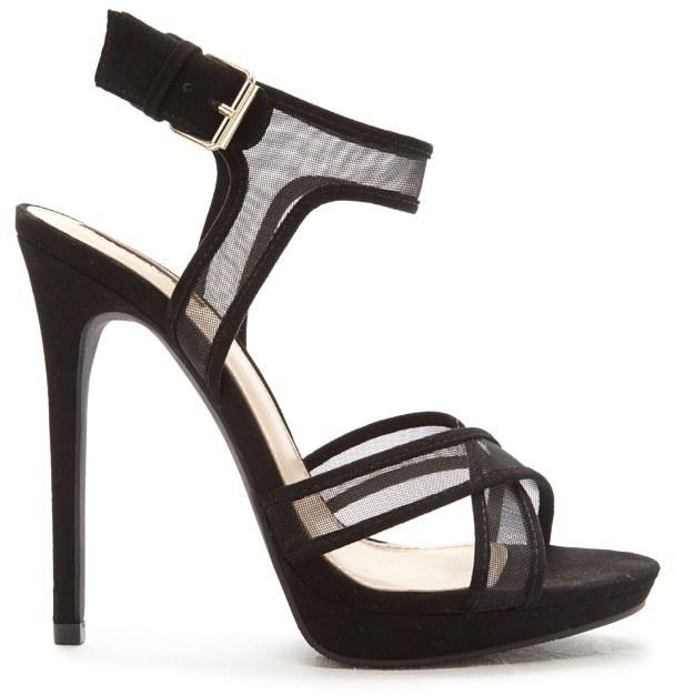 Sandalias de Tacón Negras - Foreva TrJhJB