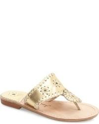 Sandalias doradas de Jack Rogers