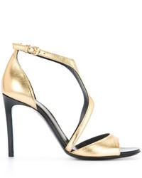 Sandalias doradas de Lanvin