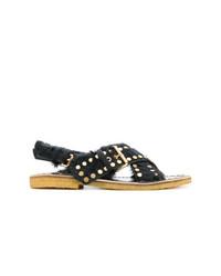 Sandalias negras de Prada