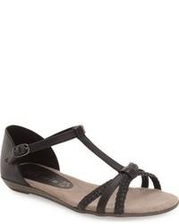 Sandalias negras de Tamaris