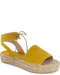 d65d5ff7a89 Comprar unas sandalias planas de ante amarillas  elegir sandalias ...