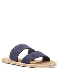 Sandalias planas de ante azul marino de Vince