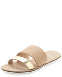 Sandalias planas de ante en beige de Eileen Fisher