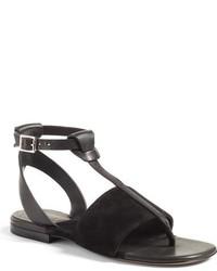 Sandalias planas de ante negras de Rag & Bone