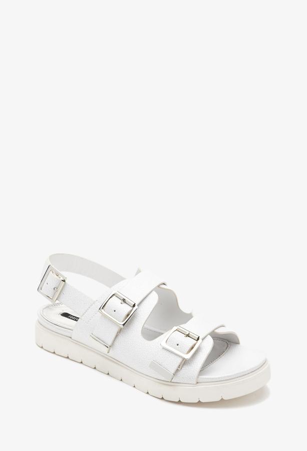 Sandalias Blancas de Piel - Foreva 8FJ9pg