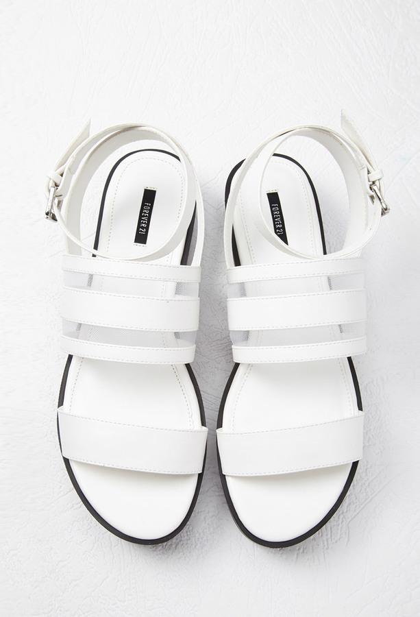 Sandalias Blancas de Piel - Foreva 3irUl