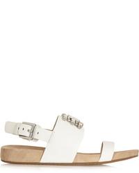 Sandalias planas de cuero con adornos blancas de MICHAEL Michael Kors