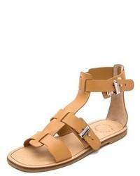 Sandalias planas de cuero marrón claro de Marc by Marc Jacobs