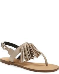 Sandalias planas de cuero marrón claro de Rebecca Minkoff