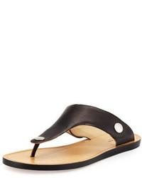Sandalias planas de cuero negras de Rag & Bone