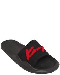 Sandalias planas de goma negras de Kenzo