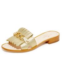 Sandalias planas doradas de Kate Spade