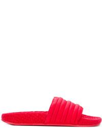 Sandalias planas rojas de adidas