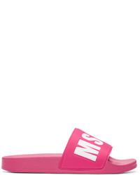 Sandalias planas rosa de MSGM