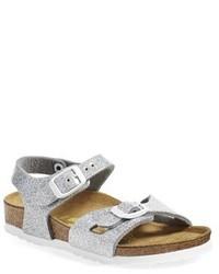 Sandalias plateadas de Birkenstock