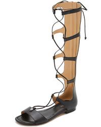 Sandalias romanas altas de cuero negras de MICHAEL Michael Kors