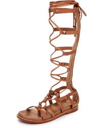 Sandalias romanas altas marrón claro de Ash