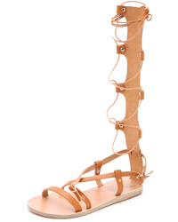 Sandalias romanas altas marrónes de Ancient Greek Sandals