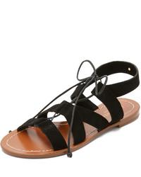 Sandalias romanas de ante negras de Kate Spade